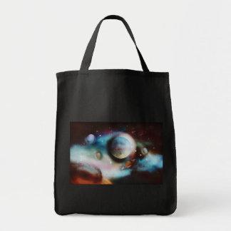 Arte de la fantasía del espacio bolsa tela para la compra