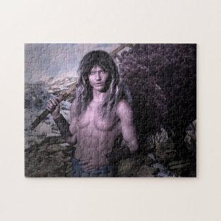 Arte de la fantasía del guerrero de Reith Elven Rompecabeza