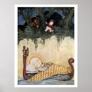 Arte de la fantasía para el poster de los niños