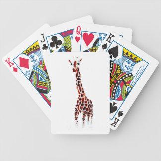 Arte de la fauna de la jirafa baraja cartas de poker