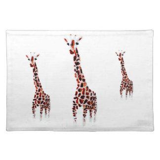 Arte de la fauna de la jirafa mantel individual