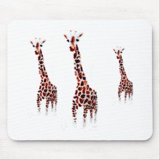 Arte de la fauna de la jirafa alfombrilla de ratón