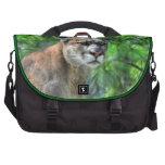 Arte de la fauna de las ramas del león y del pino bolsas de portatil