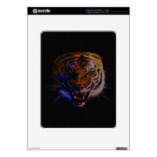 Arte de la fauna del gato grande del tigre del calcomanía para el iPad