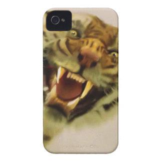 Arte de la fauna del gato grande del tigre del carcasa para iPhone 4