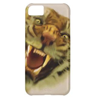 Arte de la fauna del gato grande del tigre del funda iPhone 5C