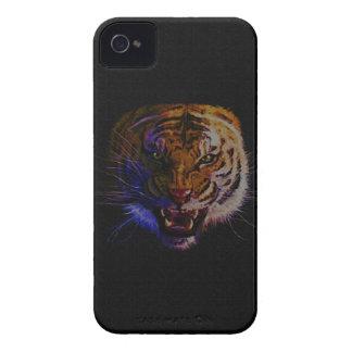 Arte de la fauna del gato grande del tigre del funda para iPhone 4