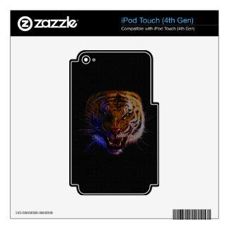 Arte de la fauna del gato grande del tigre del iPod touch 4G skin