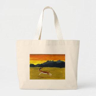 Arte de la fauna del Gazelle de la puesta del sol Bolsa
