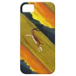 Arte de la fauna del Gazelle de la puesta del sol iPhone 5 Funda