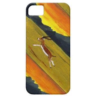Arte de la fauna del Gazelle de la puesta del sol iPhone 5 Fundas