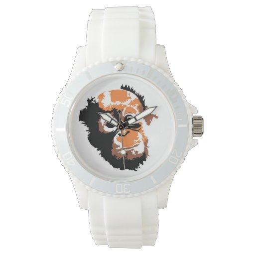 Arte de la fauna del orangután relojes