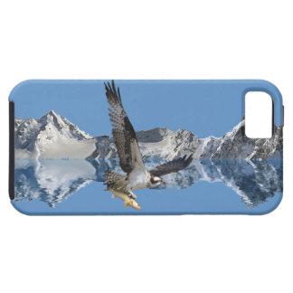 Arte de la fauna del vuelo Osprey, de los pescados iPhone 5 Case-Mate Cárcasas