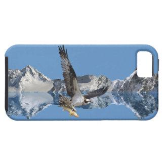Arte de la fauna del vuelo Osprey, de los pescados iPhone 5 Coberturas