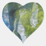 Arte de la fibra calcomanía de corazón personalizadas