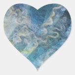 Arte de la fibra colcomanias de corazon personalizadas
