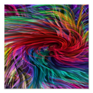 Arte de la fibra que fluye: Gráficos coloridos del Poster