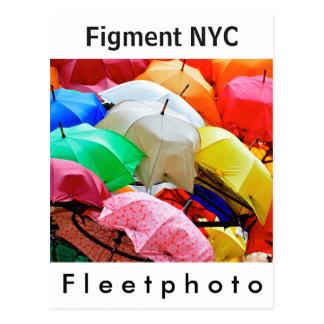 Arte de la ficción NYC justo Postal