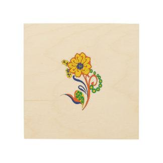 Arte de la flor cuadro de madera