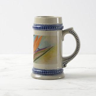 Arte de la flor de la ave del paraíso - multi jarra de cerveza