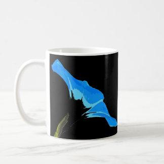 Arte de la flor de la correhuela taza de café