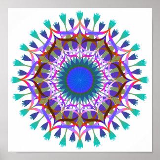 Arte de la flor de Lotus del damasco de la mandala