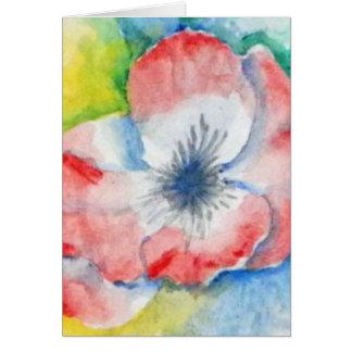 Arte de la flor de Sweetpea de la acuarela Tarjeta De Felicitación