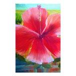 Arte de la flor del hibisco papelería