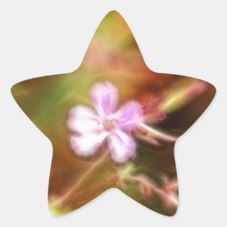 Arte de la flor calcomanías forma de estrellas