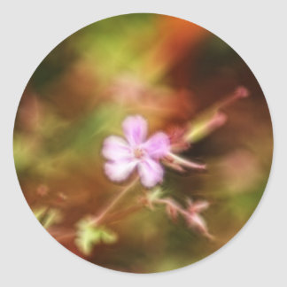 Arte de la flor etiquetas redondas