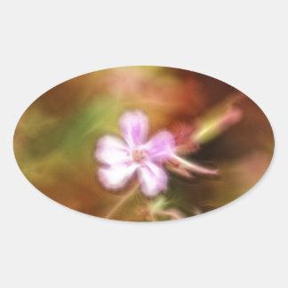 Arte de la flor calcomania óval personalizadas