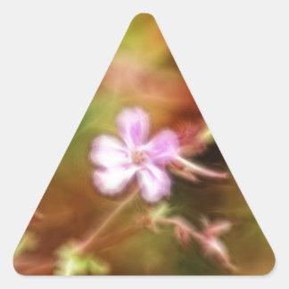 Arte de la flor pegatina de trianguladas