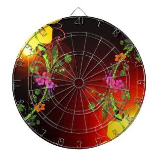 Arte de la flor tablero dardos