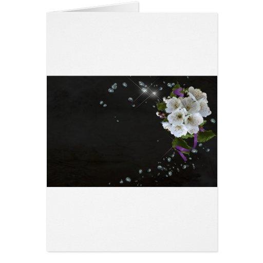 Arte de la flor tarjeta de felicitación