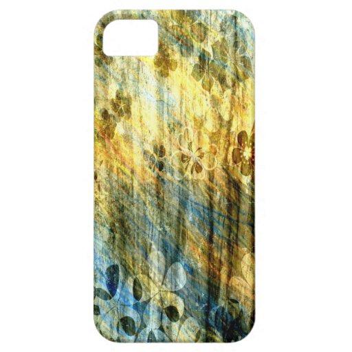 Arte de la flor y de madera del vintage funda para iPhone SE/5/5s