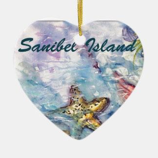 Arte de la Florida de la acuarela de la isla de Sa Adorno Para Reyes