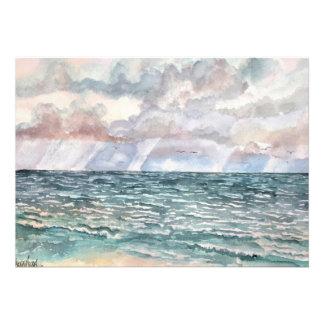 arte de la Florida de las pinturas de la playa del Invitacion Personal