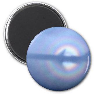 Arte de la foto del arco iris de reflexión del aer imán redondo 5 cm
