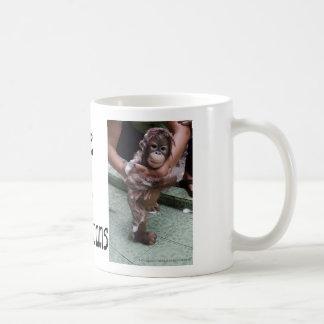 Arte de la foto del bebé de los orangutanes OFI Tazas