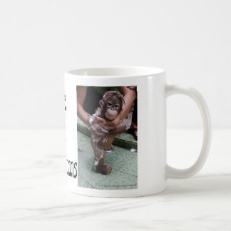 Arte de la foto del bebé de los orangutanes OFI Taza Clásica
