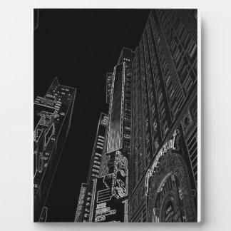 Arte de la foto del WalkAbout de las noches de New Placa De Madera