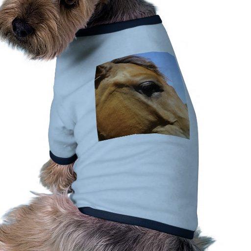Arte de la fotografía de la cabeza de caballo camiseta con mangas para perro