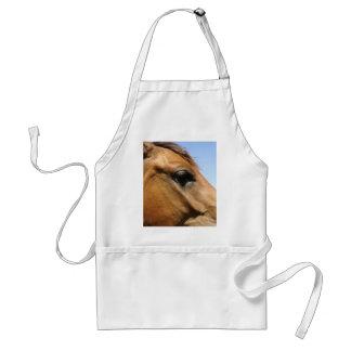 Arte de la fotografía de la cabeza de caballo delantal