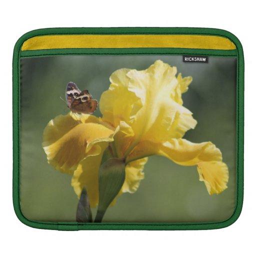 Arte de la fotografía del iris y de la mariposa de funda para iPads