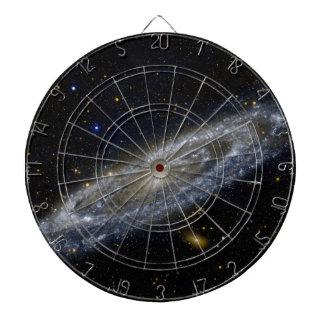 Arte de la galaxia de Milkyway Tablero Dardos