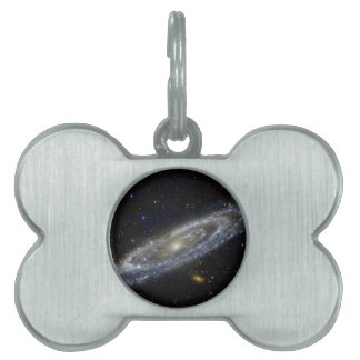 Arte de la galaxia de Milkyway Placas De Mascota