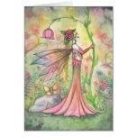 Arte de la hada de la flor de la fantasía de la so felicitacion