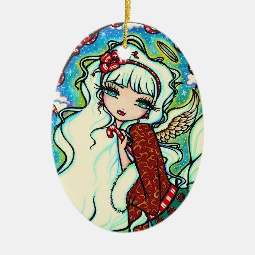 Arte de la hada del ángel del navidad del bastón d ornamentos de reyes