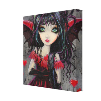 Arte de la hada del vampiro de la tarjeta del día  impresiones en lienzo estiradas
