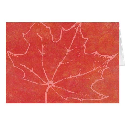 Arte de la hoja del otoño felicitación